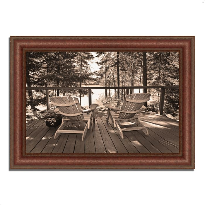 Framed Photograph Print 37 In. x 27 In. At The Lake Multi Color