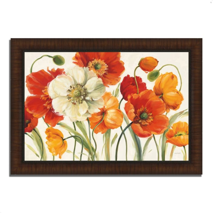 Framed Painting Print 42 In. x 30 In. Poppies Melody I by Lisa Audit Multi Color