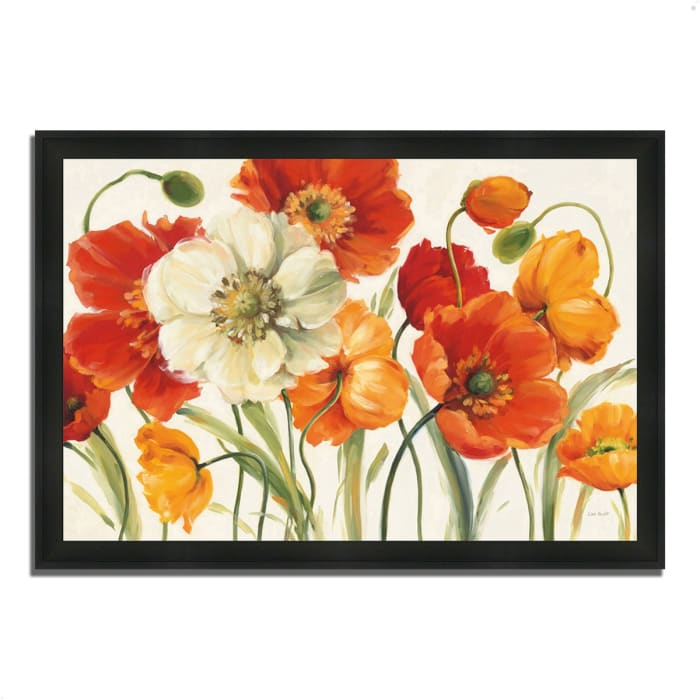 Framed Painting Print 33 In. x 23 In. Poppies Melody I by Lisa Audit Multi Color