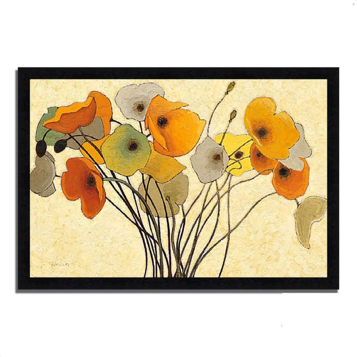 Framed Painting Print 33 In. x 23 In. Pumpkin Poppies I by Shirley Novak Multi Color