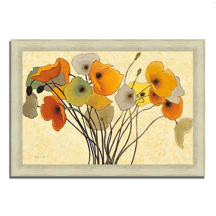 Framed Painting Print 36 In. x 26 In. Pumpkin Poppies I by Shirley Novak Multi Color