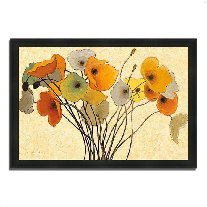 Framed Painting Print 60 In. x 41 In. Pumpkin Poppies I by Shirley Novak Multi Color