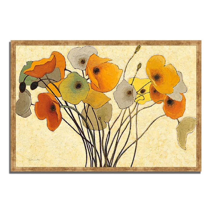 Framed Painting Print 59 In. x 40 In. Pumpkin Poppies I by Shirley Novak Multi Color