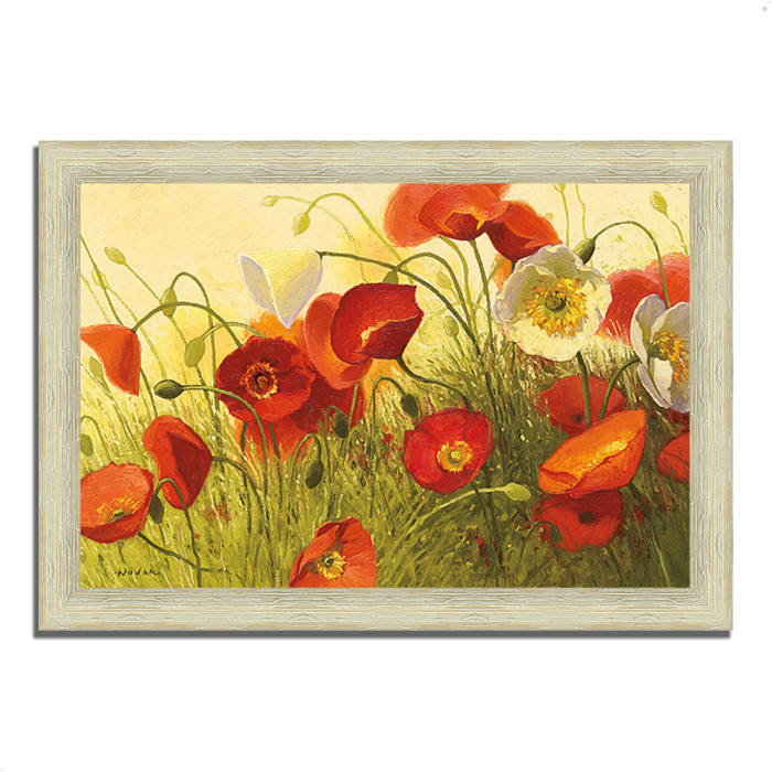 Framed Painting Print 42 In. x 30 In. Havin a Heat Wave by Shirley Novak Multi Color