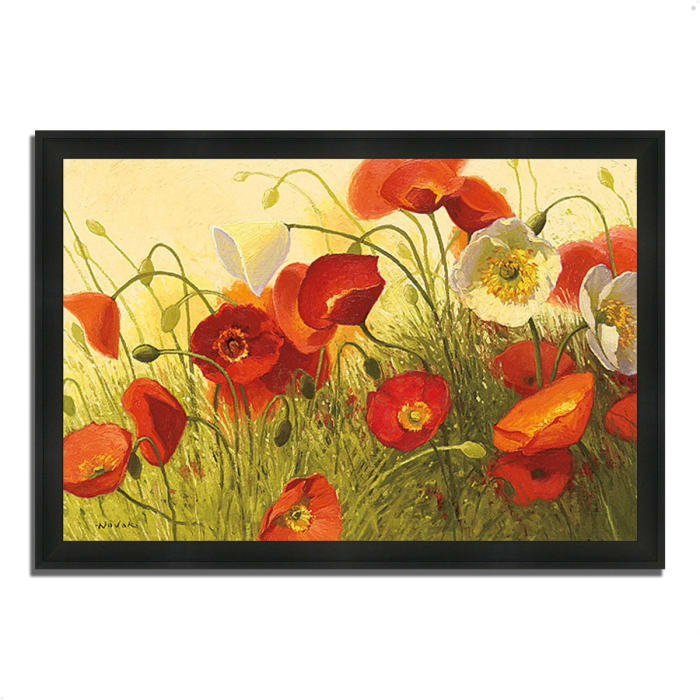 Framed Painting Print 46 In. x 33 In. Havin a Heat Wave by Shirley Novak Multi Color