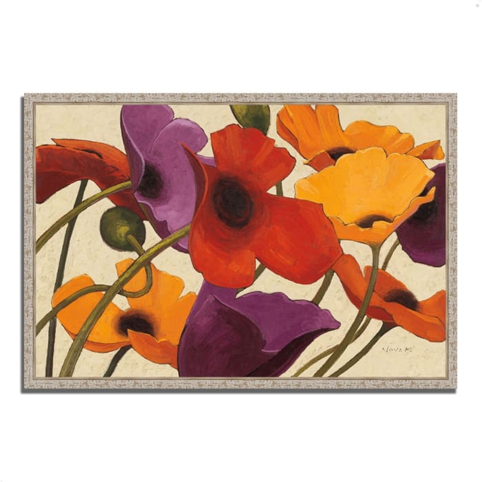 Fine Art Giclee Print on Gallery Wrap Canvas 32 In. x 22 In. Up Three by Shirley Novak Multi Color