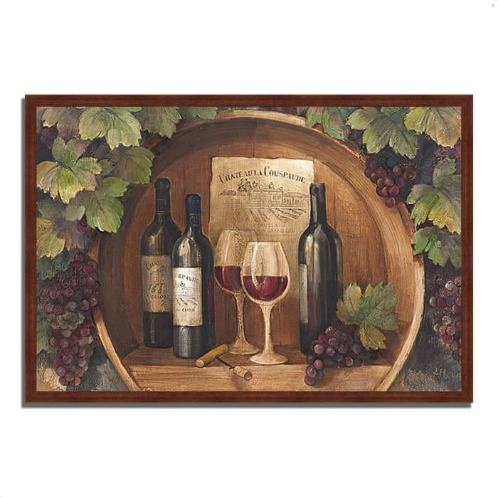 Framed Painting Print 38 In. x 26 In. At the Winery by Albena Hristova Multi Color