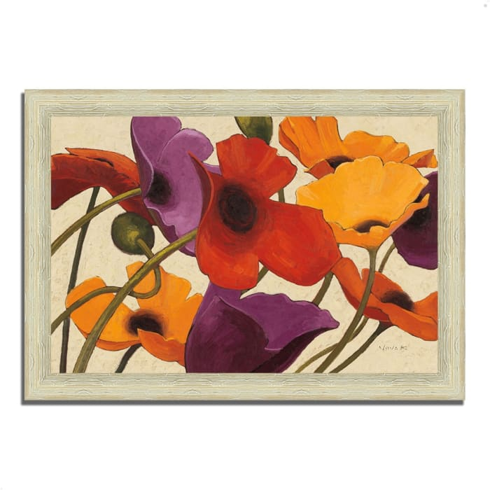 Framed Painting Print 51 In. x 36 In. Up Three by Shirley Novak Multi Color