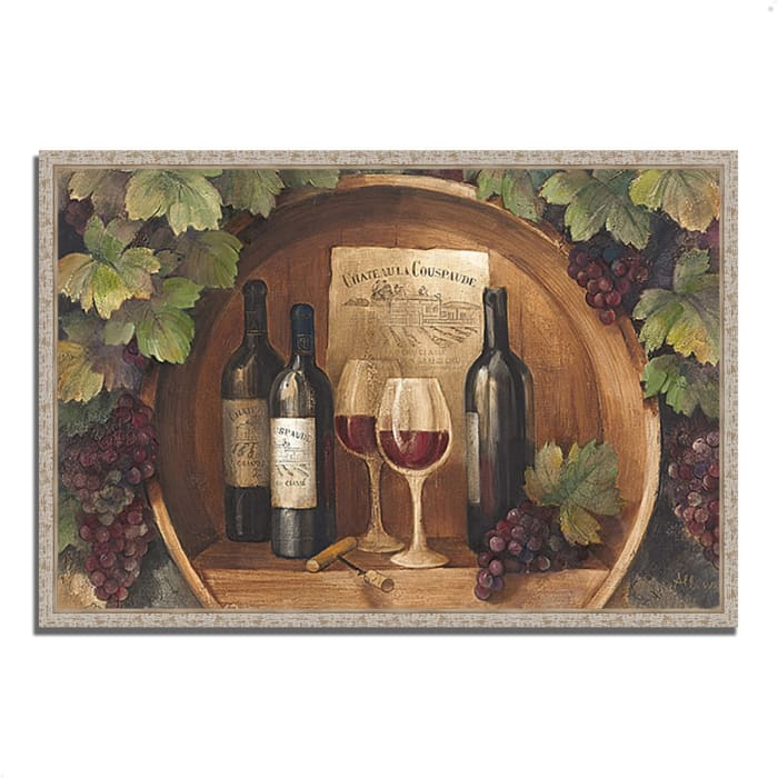 Fine Art Giclee Print on Gallery Wrap Canvas 32 In. x 22 In. At the Winery by Albena Hristova Multi Color