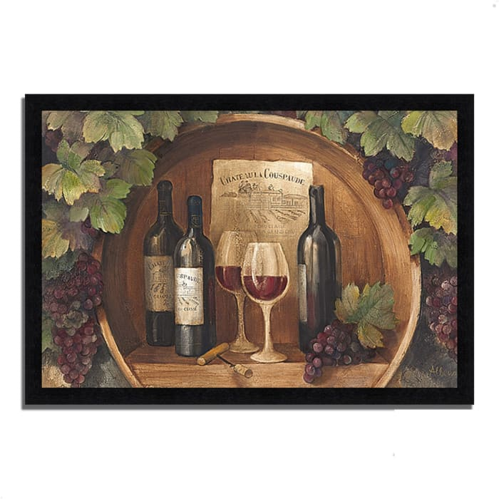 Framed Painting Print 60 In. x 41 In. At the Winery by Albena Hristova Multi Color