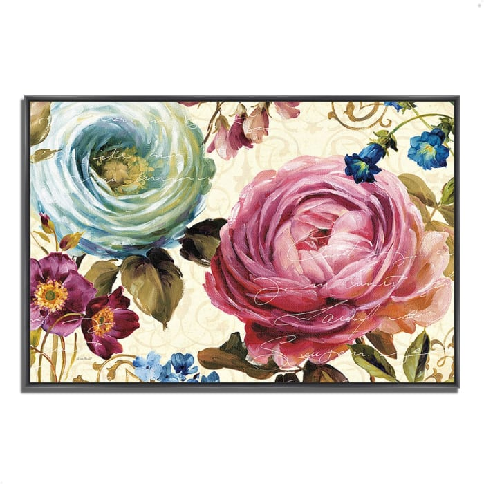 Fine Art Giclee Print on Gallery Wrap Canvas 32 In. x 22 In. Victoria's Dream III by Lisa Audit Multi Color