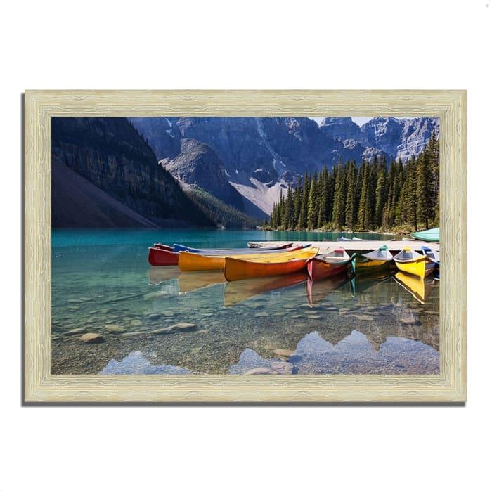 Framed Photograph Print 36 In. x 26 In. Lake Moraine Multi Color