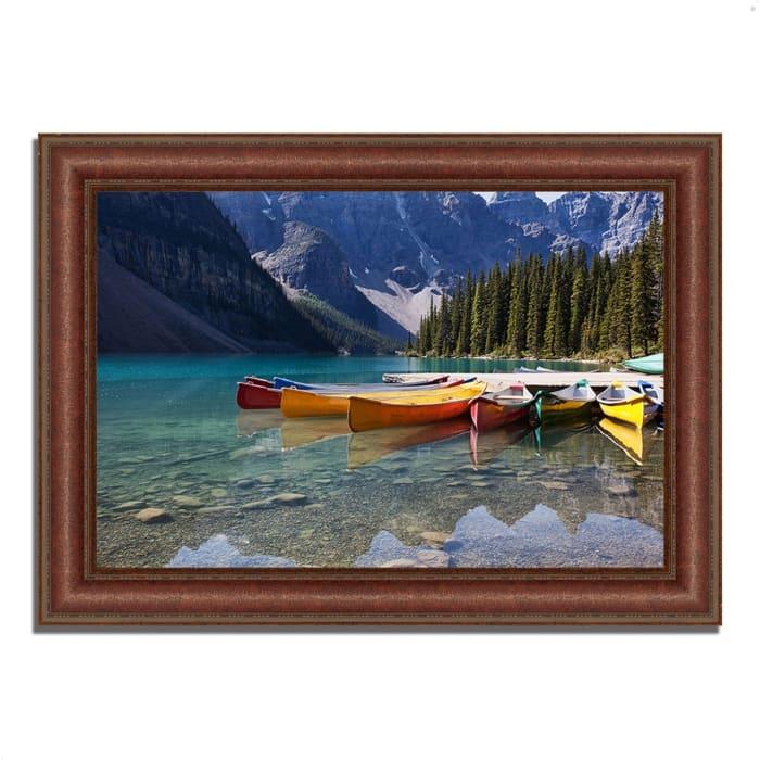 Framed Photograph Print 43 In. x 31 In. Lake Moraine Multi Color