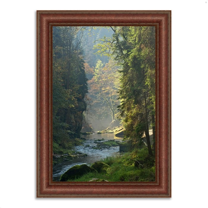 Framed Photograph Print 37 In. x 27 In. Paradise Found Multi Color
