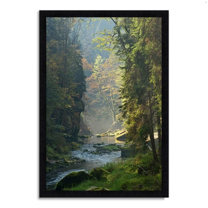 Framed Photograph Print 60 In. x 41 In. Paradise Found Multi Color