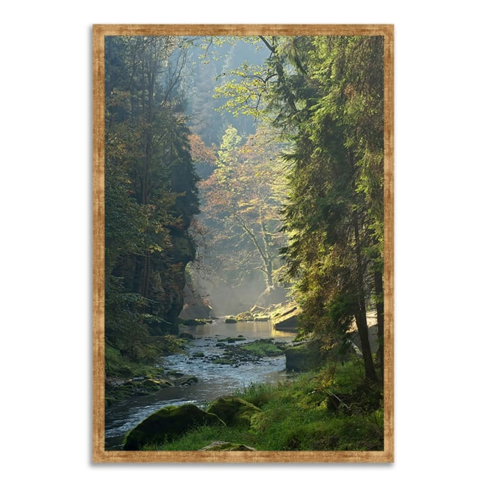 Framed Photograph Print 38 In. x 26 In. Paradise Found Multi Color