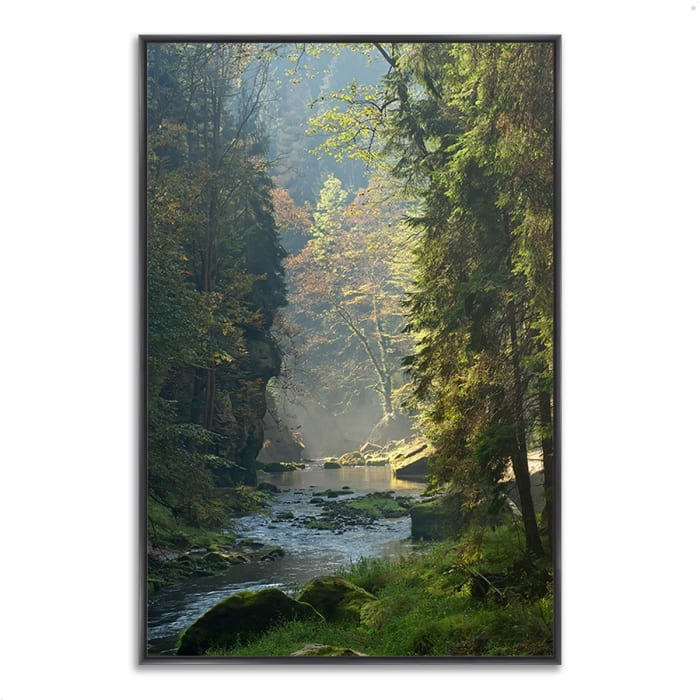 Fine Art Giclee Print on Gallery Wrap Canvas 59 In. x 40 In. Paradise Found Multi Color
