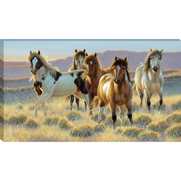 Fine Art Giclee Print on Gallery Wrap Canvas 44 In. x 25 In. Youngblood By Cynthie Fisher Brown