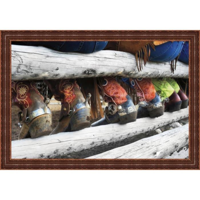 Boots & Spurs By Lisa Dearing, Framed Wall Art,