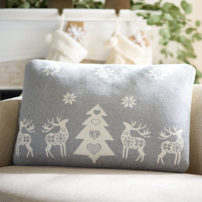 Twinkling in Gray Pillow