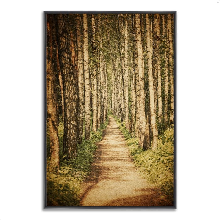 Fine Art Giclee Print on Gallery Wrap Canvas 40 In. x 59 In. The Old Aspen Trail Multi Color