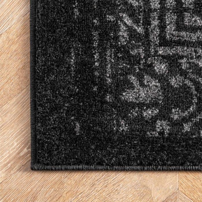 Vintage Arlena 8' x 10' Black Rug