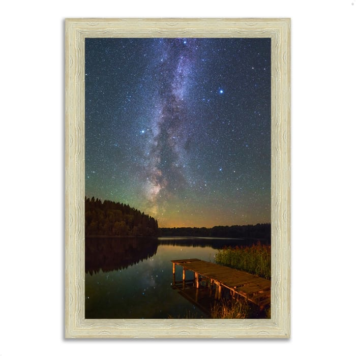 Framed Photograph Print 30 In. x 42 In. Northern Sky Multi Color