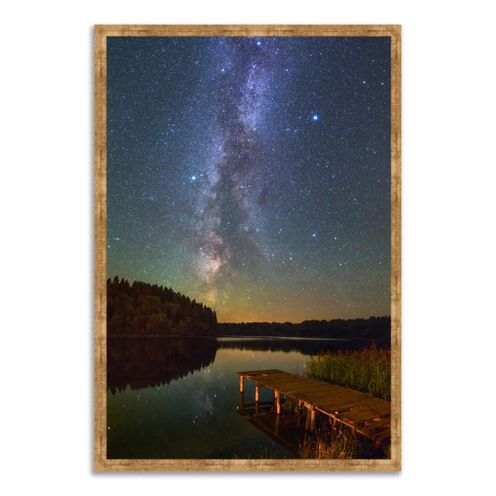 Framed Photograph Print 40 In. x 59 In. Northern Sky Multi Color