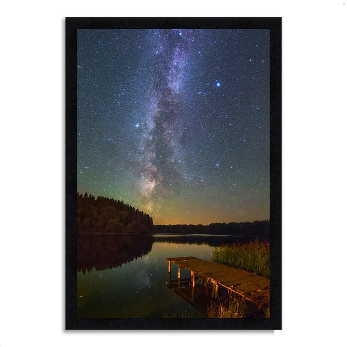 Framed Photograph Print 23 In. x 33 In. Northern Sky Multi Color