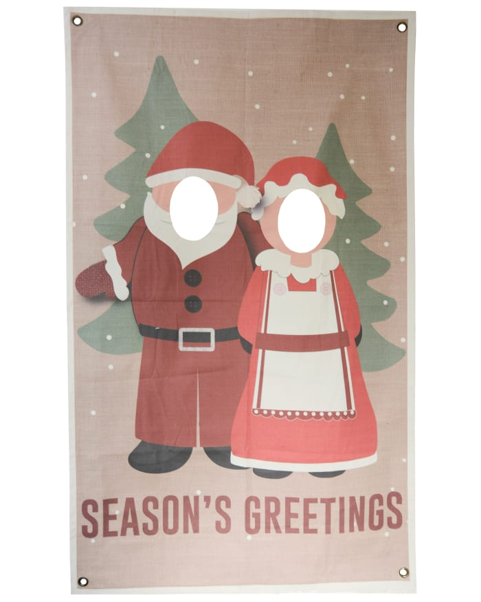 Mr. & Mrs. Clause Photo Banner