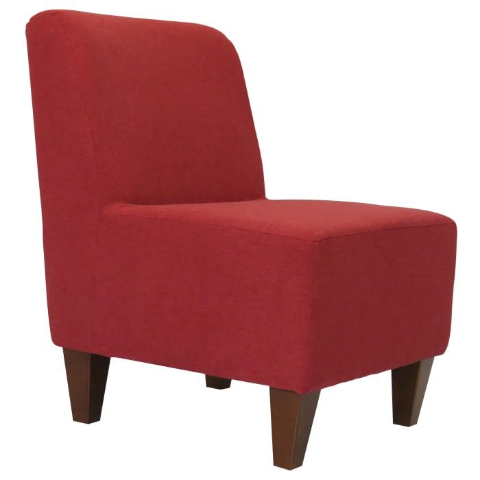 Marsala Red Armless Slipper Chair