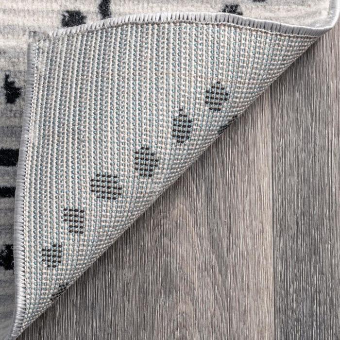 Mila Dotted Diamond Trellis 8' x 10' Gray Rug