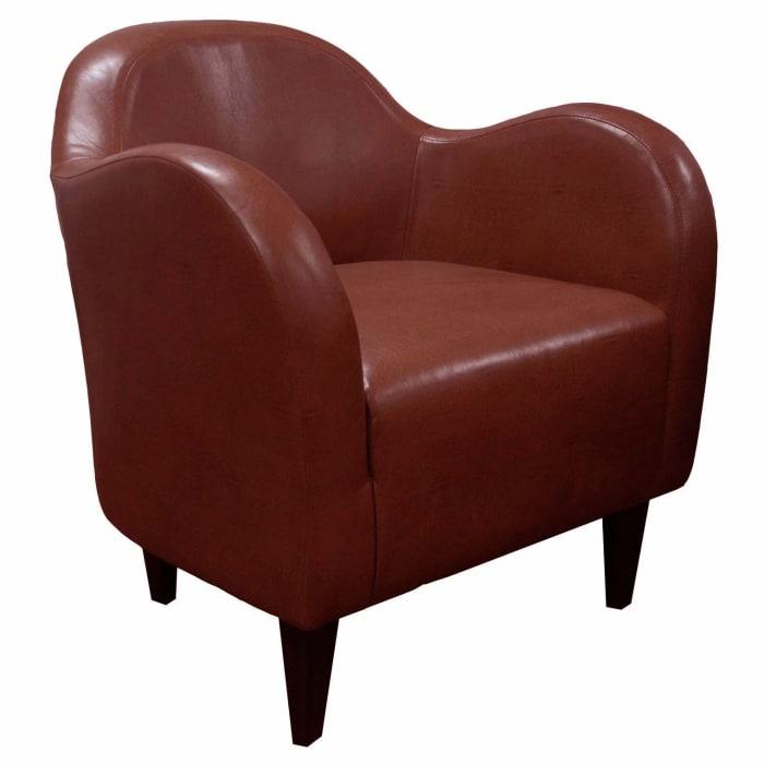Chili Leatherette Club Chair