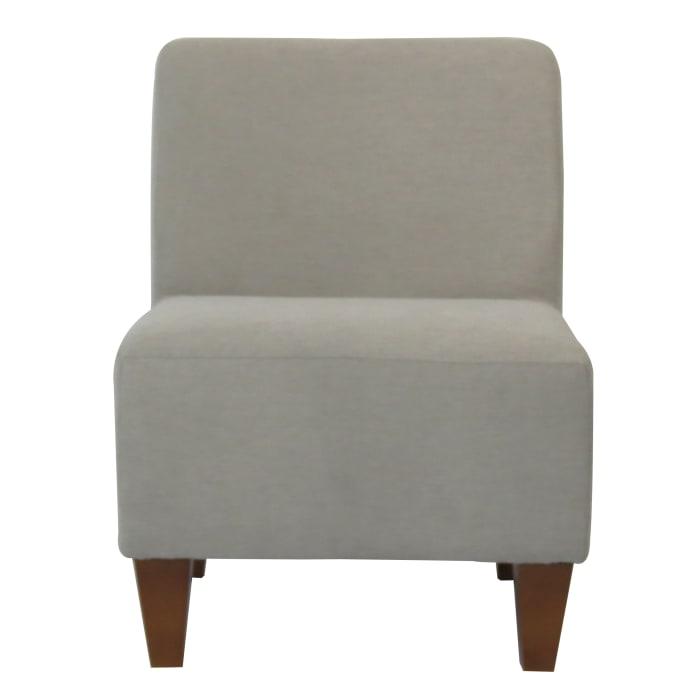 Amanda Taupe Armless Slipper Chair