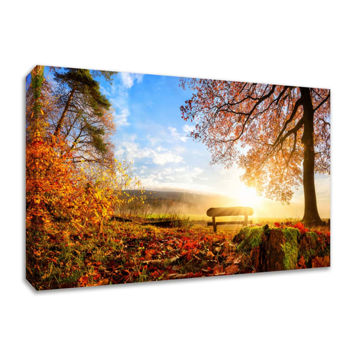 Fine Art Giclee Print on Gallery Wrap Canvas 30 In. x 20 In. Warmly Illumining Multi Color