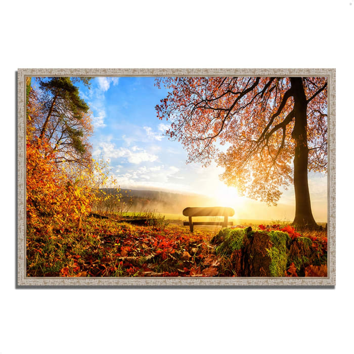 Fine Art Giclee Print on Gallery Wrap Canvas 47 In. x 32 In. Warmly Illumining Multi Color