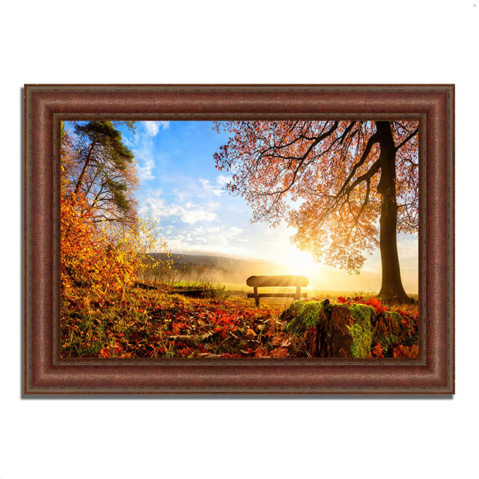Framed Photograph Print 64 In. x 45 In. Warmly Illumining Multi Color