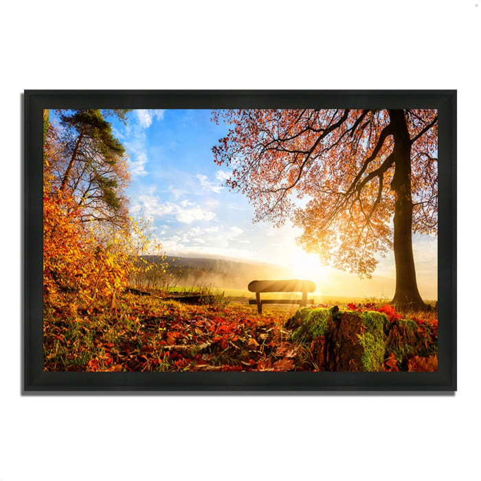 Framed Photograph Print 60 In. x 41 In. Warmly Illumining Multi Color