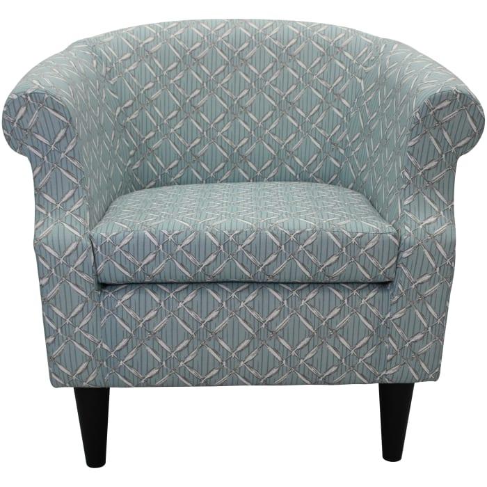 Nikole Spa Blue Club Chair