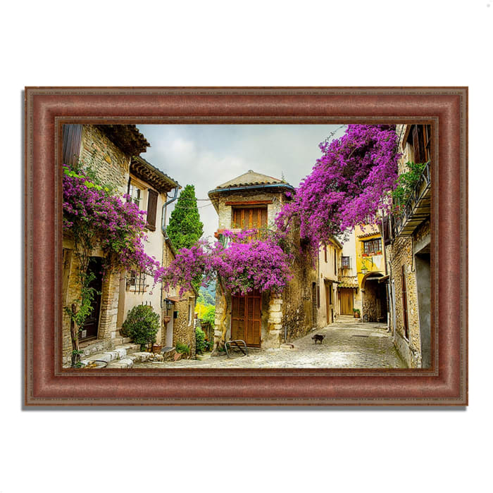 Framed Photograph Print 43 In. x 31 In. Bougainvillea Lane Multi Color