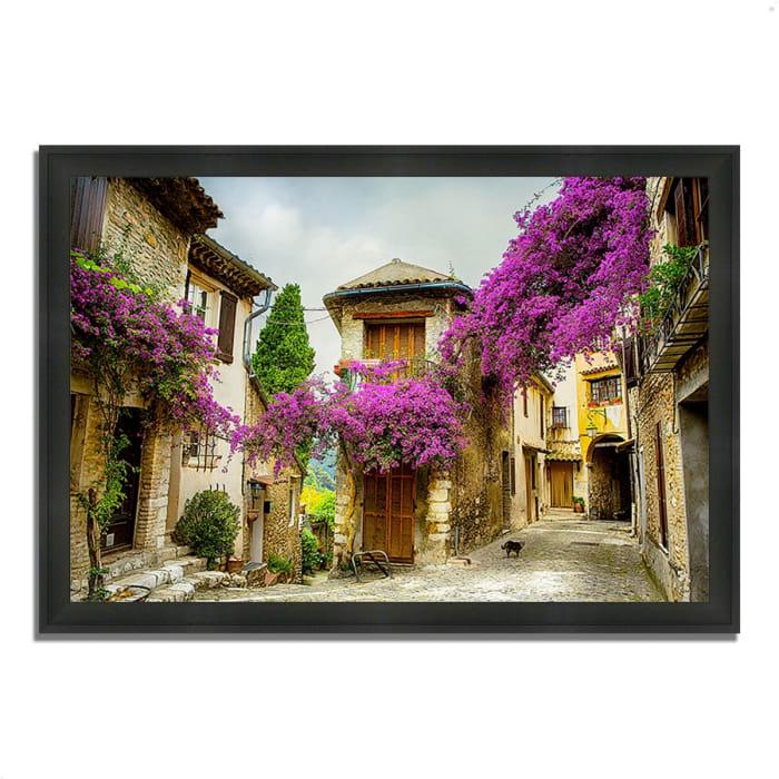 Framed Photograph Print 60 In. x 41 In. Bougainvillea Lane Multi Color