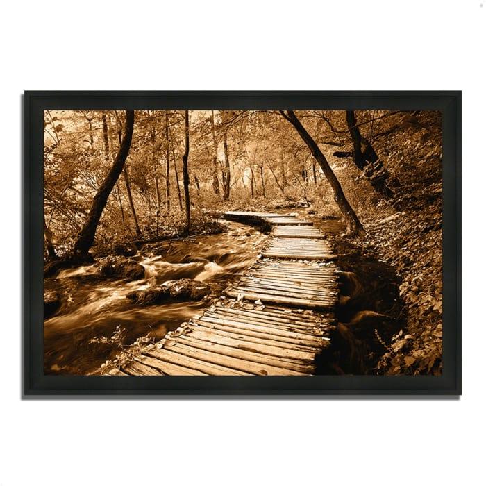Framed Photograph Print 39 In. x 27 In. Creekside Walk II Multi Color