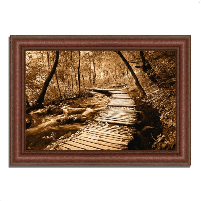 Framed Photograph Print 43 In. x 31 In. Creekside Walk II Multi Color