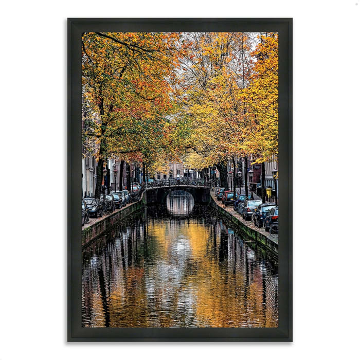 Framed Photograph Print 23 In. x 33 In. Canal Reflections Multi Color
