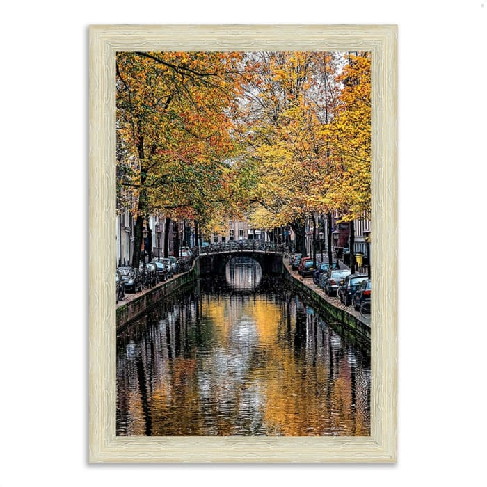Framed Photograph Print 36 In. x 51 In. Canal Reflections Multi Color
