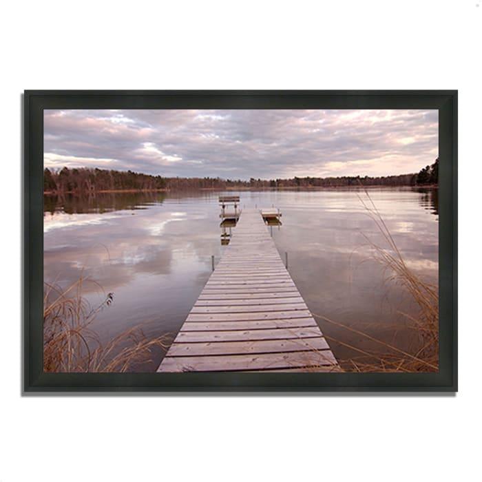 Framed Photograph Print 39 In. x 27 In. Lake Edna Multi Color