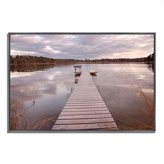 Fine Art Giclee Print on Gallery Wrap Canvas 38 In. x 26 In. Lake Edna Multi Color