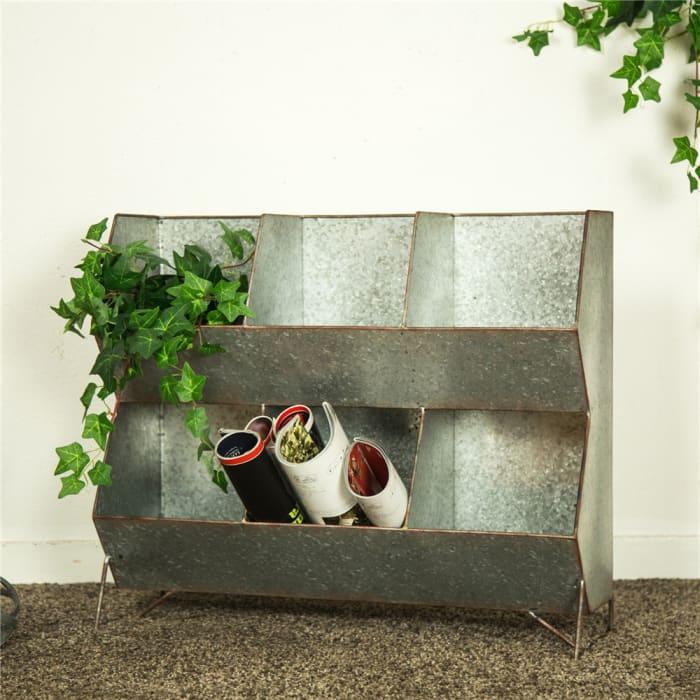 Galvanized Metal Farmhouse Storage Shelf
