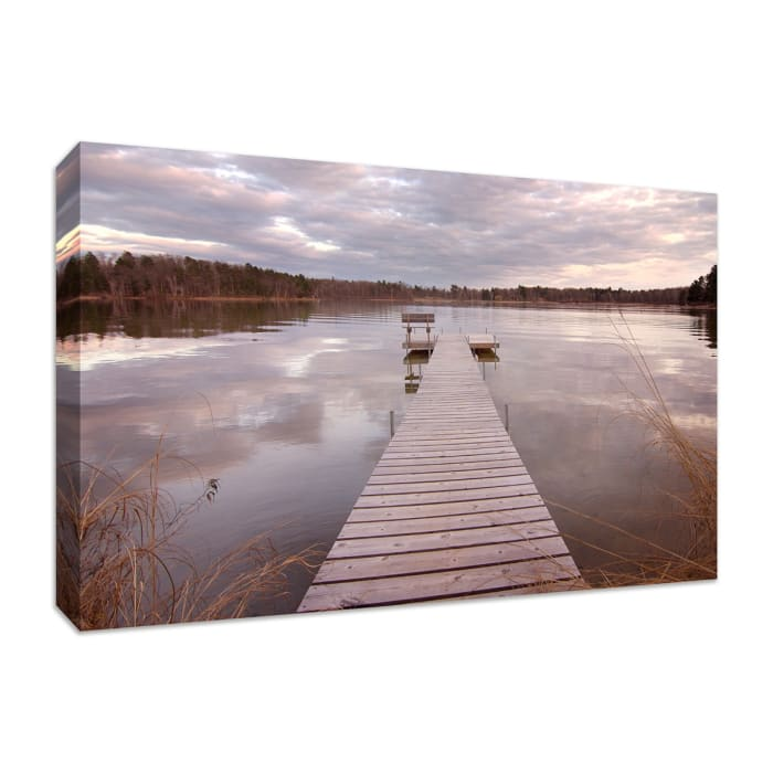 Fine Art Giclee Print on Gallery Wrap Canvas 45 In. x 30 In. Lake Edna Multi Color