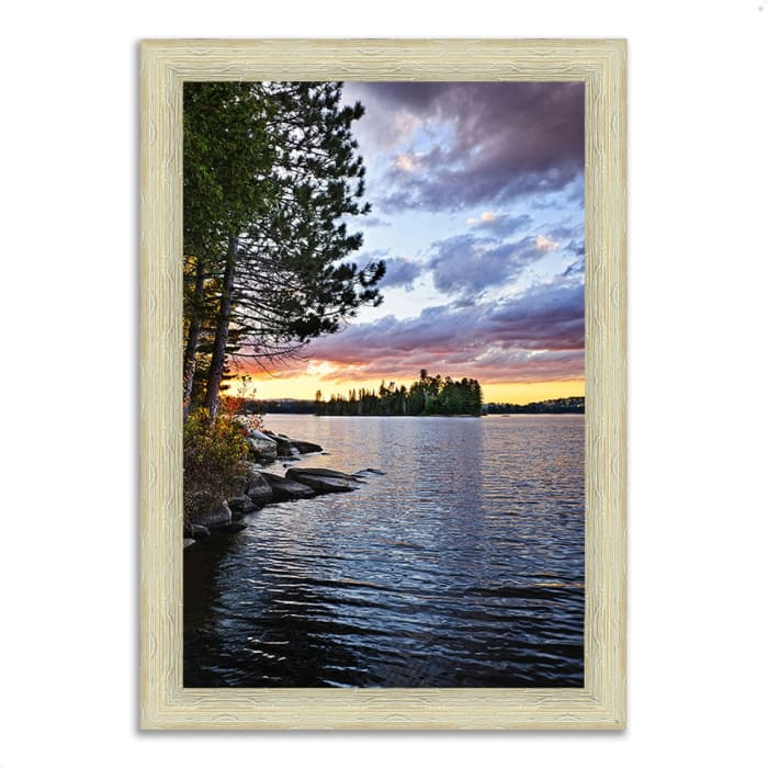 Framed Photograph Print 36 In. x 51 In. Lake of the Two Rivers Multi Color